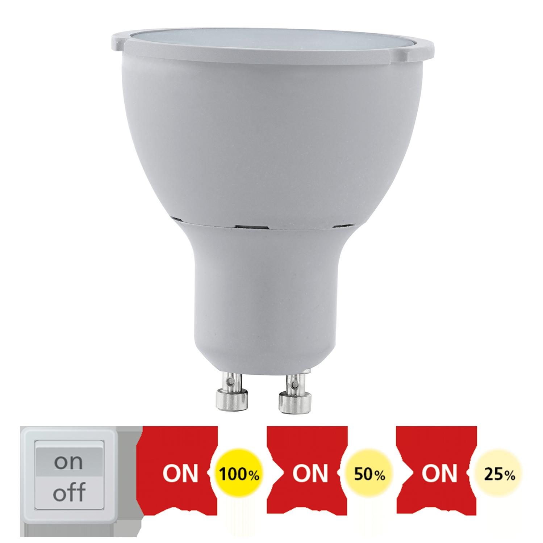 eglo led 11541 5w gu10 spot light 3000k warm on off dimmable soufan bros co. Black Bedroom Furniture Sets. Home Design Ideas